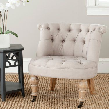 Safavieh Carlin Tufted Chair - Taupe