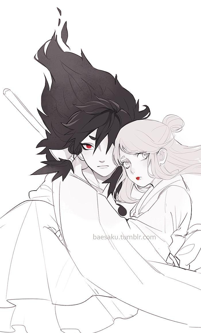 Indra and his wife - Naruto Shippudden #anime #uchiha #sharingan