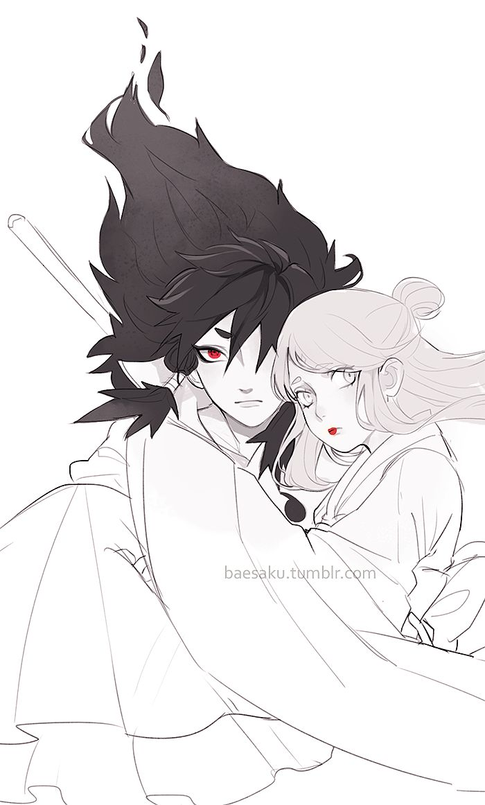 Indra and his wife - Naruto Shippudden #anime #uchiha #sharingan