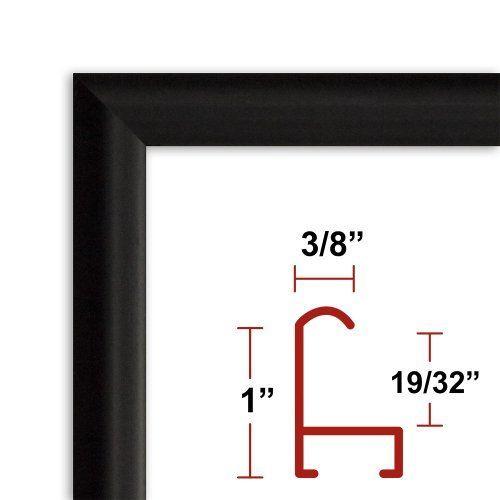 32 x 40 satin black poster frame profile 15 custom size picture frame