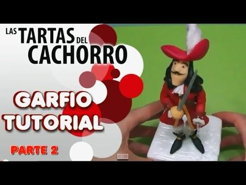Tutorial Captain Hook part 2 Cake topper pasta di zucchero torte decorate fondant - YouTube