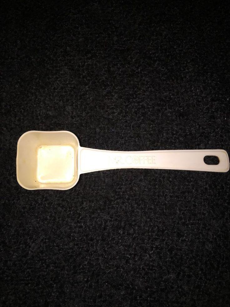Mr Coffee White Plastic Coffee Scoop Vintage Pinterest