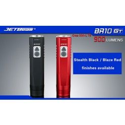 JETBeam BR10 USB Rechargeable Bike Light - 900 Lumens (Red)