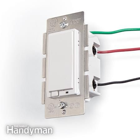 A light switch can be remotely controlled by a home automation network. - DIY Home Automation System Switch anything from anywhere http://www.familyhandyman.com/electrical/wiring/diy-home-automation-system/view-all