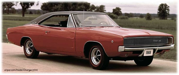 1968 Dodge Charger  Like my husband's car when we were dating.