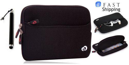 "Apple iPad Mini 7.9"" Black Neoprene Sleeve Case with Front Pocket for Accessories and Bonus Tablet Stylus Pen + EnvyDeal V... $14.99"