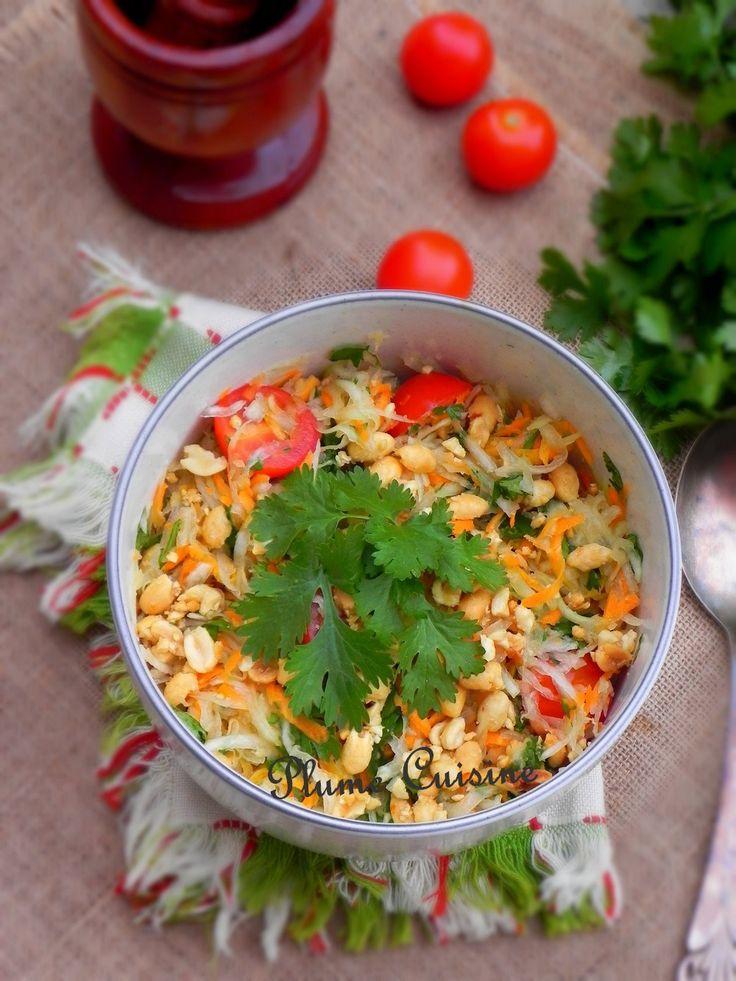 Salade de papaye verte thailandaise