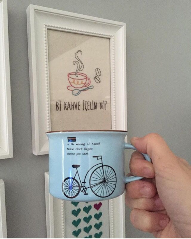 Embroidery, coffe, cup, kahve