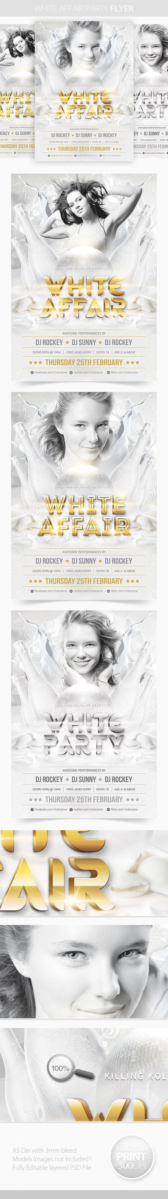 White Affair Party Flyer by Mahantesh Nagashetty, via Behance