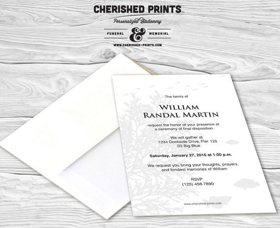 28 best Invitations Announcements and Mourning Cards images on – Funeral Ceremony Invitation