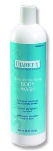 Special 1 Pack of 3 - Diabet-X Body Wash FNC40316 FNC MEDICAL CORP by Med-Choice. $37.63. 16oz Bottle. Please note: Image may not reflect actual product, quantiy or package contents. Antibacterial deep moisturizing wash leaves skin fresh, clean, and soothed and provides germ-killing protection that lasts for hours. Mild, creamy, rich lather. Active ingredients include collagen and humectants, Vitamin B12, and Triclosan