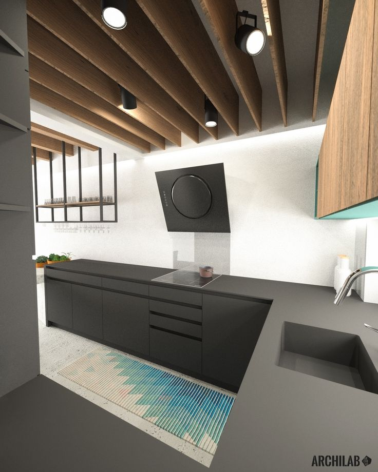 Návrh kuchyne - interiér rodinného domu, Záhorská Bystrica - Kitchen interior by Archilab