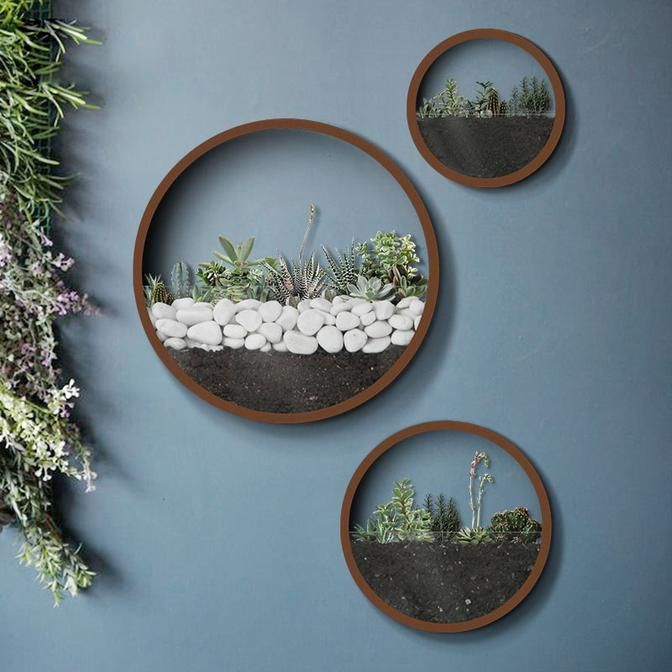 Round Hanging Wall Planter In 2019 Home Decor Garden Wall