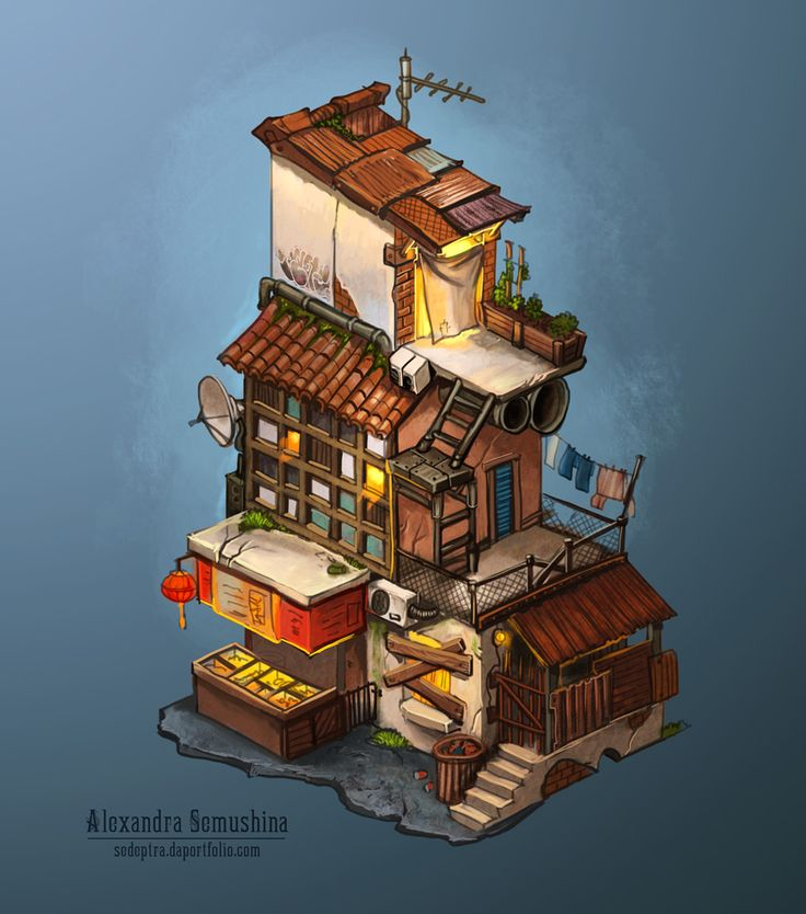 Ghetto house by Sedeptra.deviantart.com on @deviantART