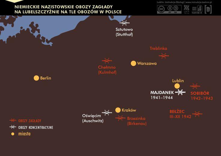 Obozy zagłady i obozy koncentracyjne na terenie Polski...  #obozy koncentrecyjne #holocaust #wojna #shoah