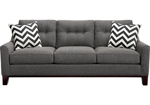 Shop for a Cindy Crawford Home  Hadly Gray Sofa at Rooms To Go. Find Sofas that will look great in your home and complement the rest of your furniture. #iSofa #roomstogo