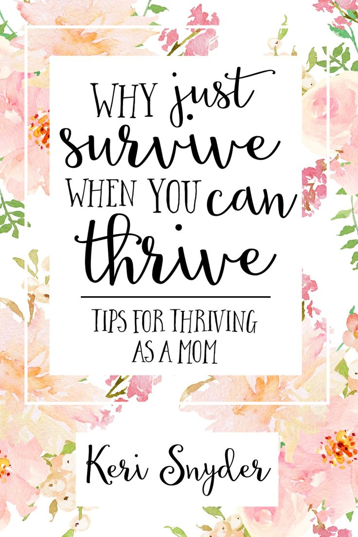Why Just Survive When You Can Thrive