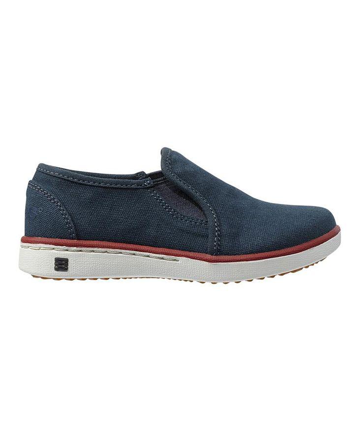 Navy Malibu Slip-On Sneaker - Kids