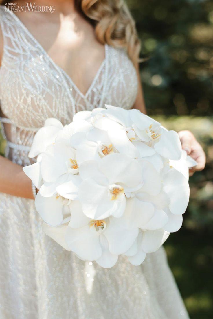 Romantischer ganz weißer Hochzeitsempfang   – Rose gold makeup