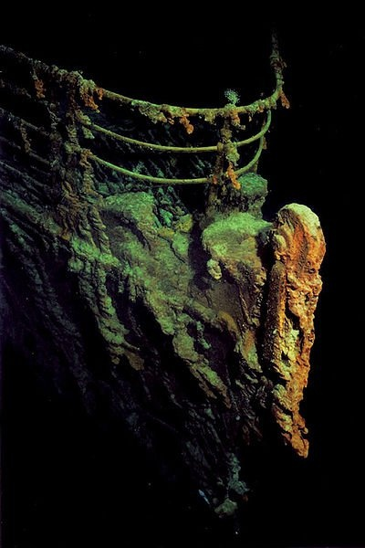 #Titanic #History #Shipwreck Titanic's Bow