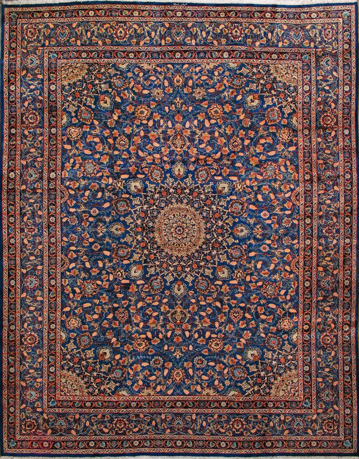 "Buy Mashad Persian Rug 10' 0"" x 13' 0"" , Authentic Mashad Handmade Rug"