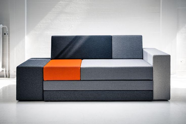 Hanasaari 3-seater sofabed by Ateljé Sotamaa.  Stage 1 / sofa.