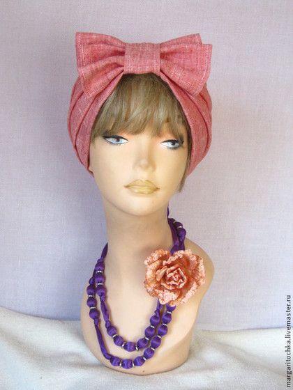 Шляпы ручной работы. Ярмарка Мастеров - ручная работа. Купить Чалма льняная  тюрбан на лето. Handmade. Тюрбан, большие размеры