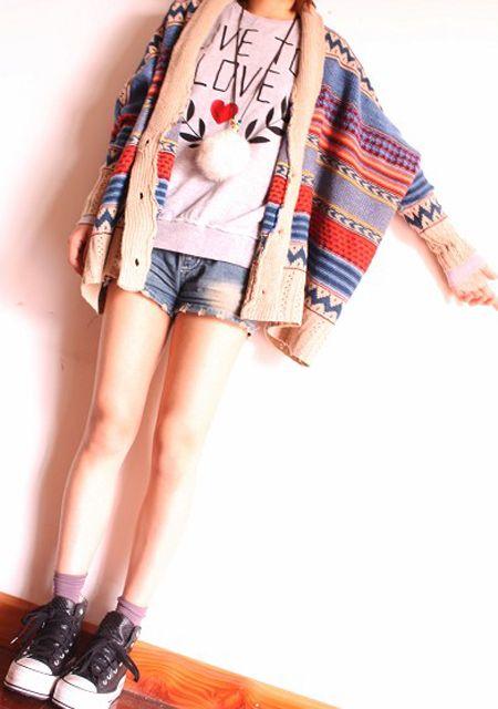 2013 kolorowy sweter narzutka ponczo: 2013 Kolorowi, Colors Stripes, Narzutka Ponczo, Kolorowi Sweter, Sweter Narzutka, Fall Fashion, Loo Cardigans, Cardigans I340507, Odzież Damska