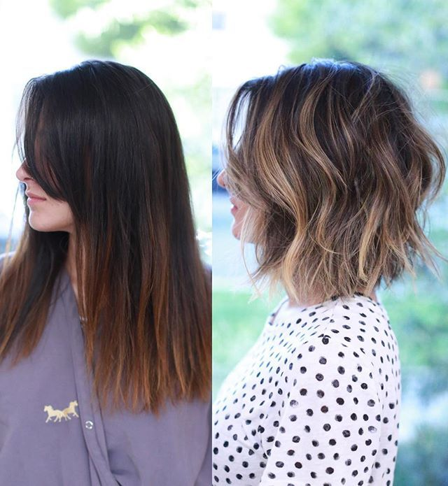crop hair style 25 best ideas about balayage bob on 9388