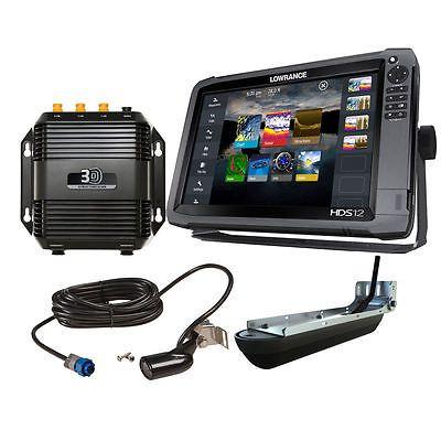 New Lowrance Hds-12 Gen3 3D Bundle W/ 83/200 Tm Transducer 000-12916-001