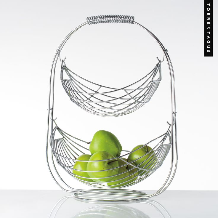 Organize your fruit in one of our popular Fruit Baskets and keep your kitchen counter top looking clean and stylish. Store other small household items such as tea towels and bath balms for a stunning countertop display.  #TorreAndTagus #OrganizeYourHome #HomeDecor #fruitbaskets www.torretagus.com