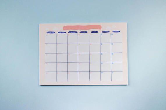 Monthly Open Calendar Frannerd Gsm Paper Shipping Envelopes