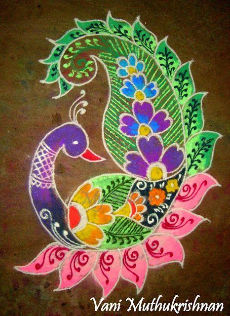 My Kolam: Pretty peacock | mandala | Pinterest | Peacocks ...