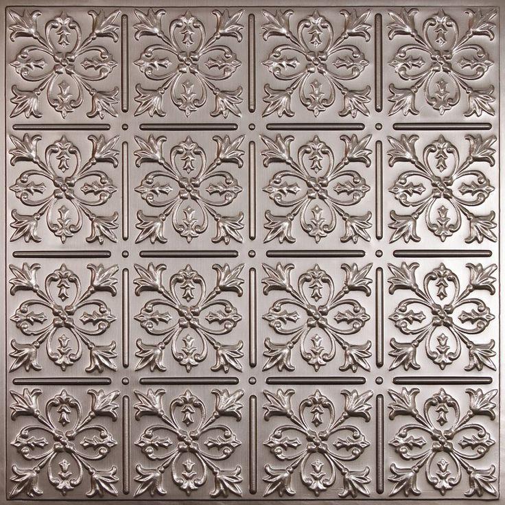 fleurdelis faux tin ceiling tile 2 feet x 2 feet lay