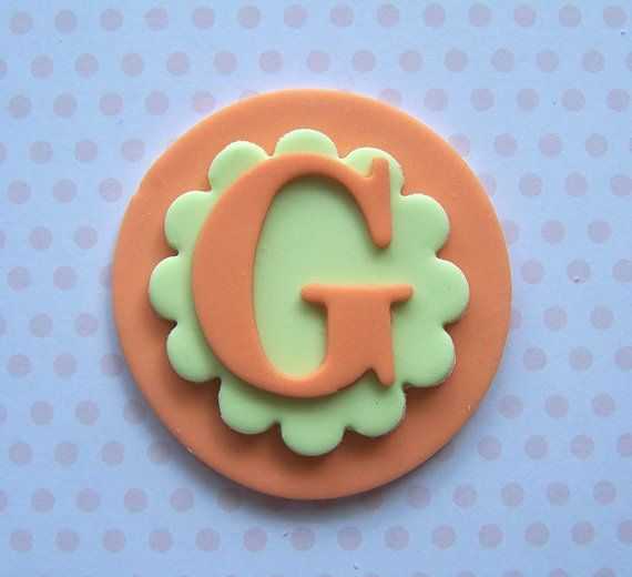 fondant monogram cake toppers | Fondant Cupcake Topper Edible Monogram Letters Cake Decoration Cookies