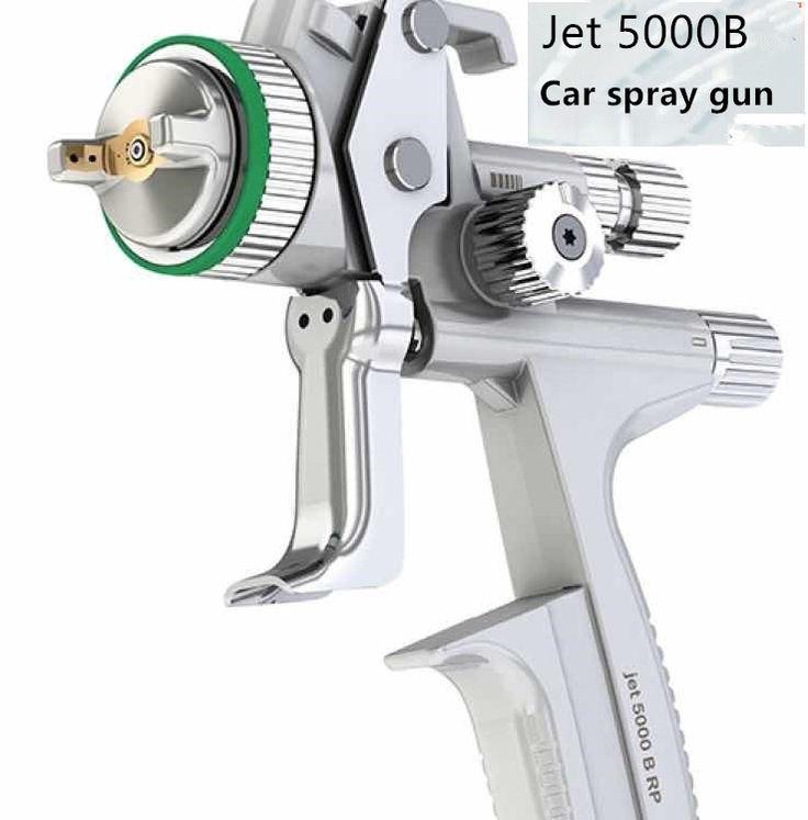 Bán buôn và bán lẻ Máy Bay Phản Lực 5000B phun không khí gun Gravity súng phun với 1.3 mét vòi phun RP khí nén phun súng xe súng phun sơn
