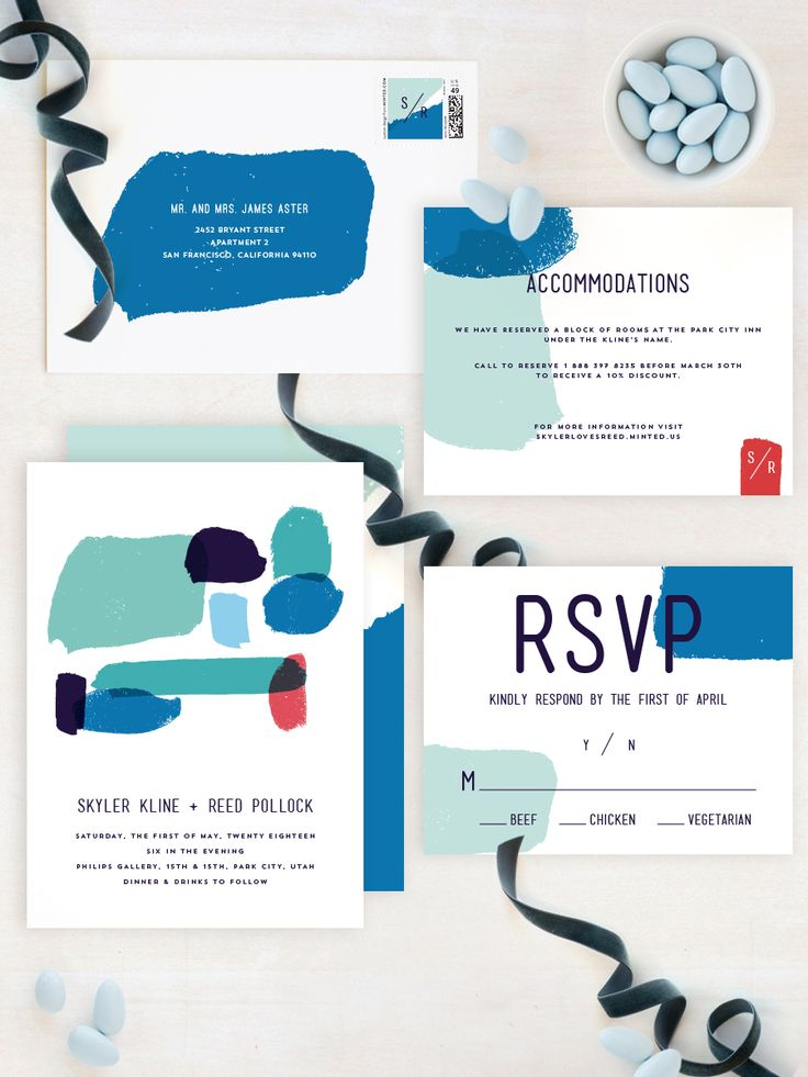 The art of romance. Modern brides will love Minted artist Allison Cornu's 'Brush' wedding invitation featuring bold brushstroke and contemporary design.