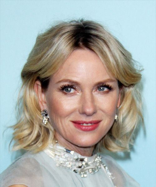 713 best celebrity hairstyles images on pinterest celebrity naomi watts medium wavy formal bob hairstyle with side swept bangs light blonde ash hair color urmus Choice Image