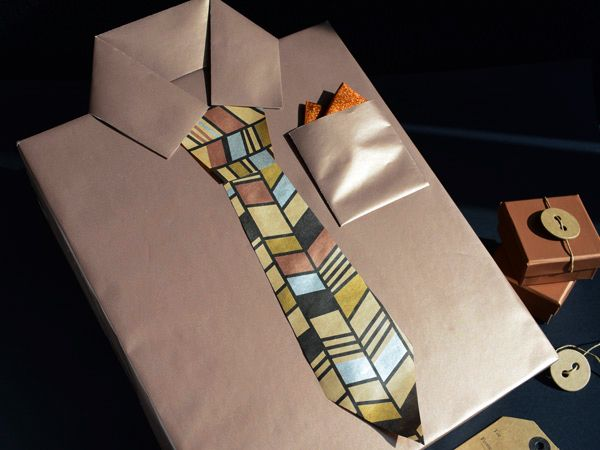 Tribal tie.  #Barama #Giftwrapping #Wrapping #Giftideas #Presents #Fathersday…