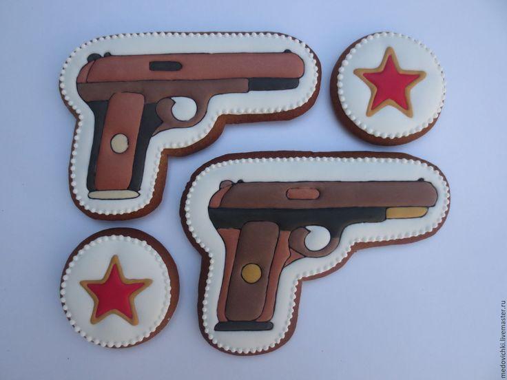 Купить Пряничный подарок к 23 февраля-пистолет - 23 февраля, 23 февраля подарок
