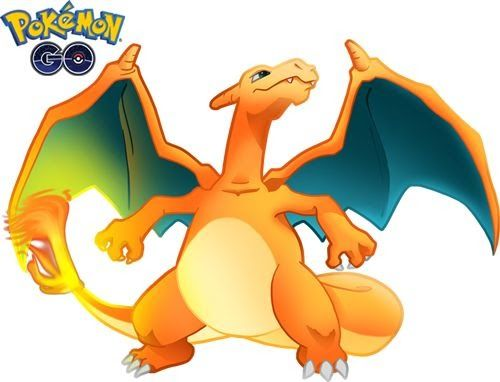 Vector e imagen normal de Charizard del juego Pokémon Go. Charizard es el Pokémon Nº 6.  PNG de fondo transparente (CLIPART) 800x600 píxeles. Descarga gratis.