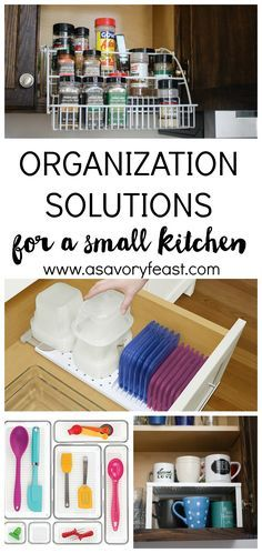 Needing more organization in your kitchen? Here are some simple, affordable tools you can use to make the best use of the space you have. Organize your spice rack, tupperware, pots and lids, kitchen utensils, silverware, coffee mugs and more.