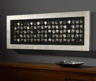 Cuadros Bajorrelieve c/vitrina : Colección CUBIC