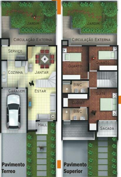 Casa pequena de 2 pisos