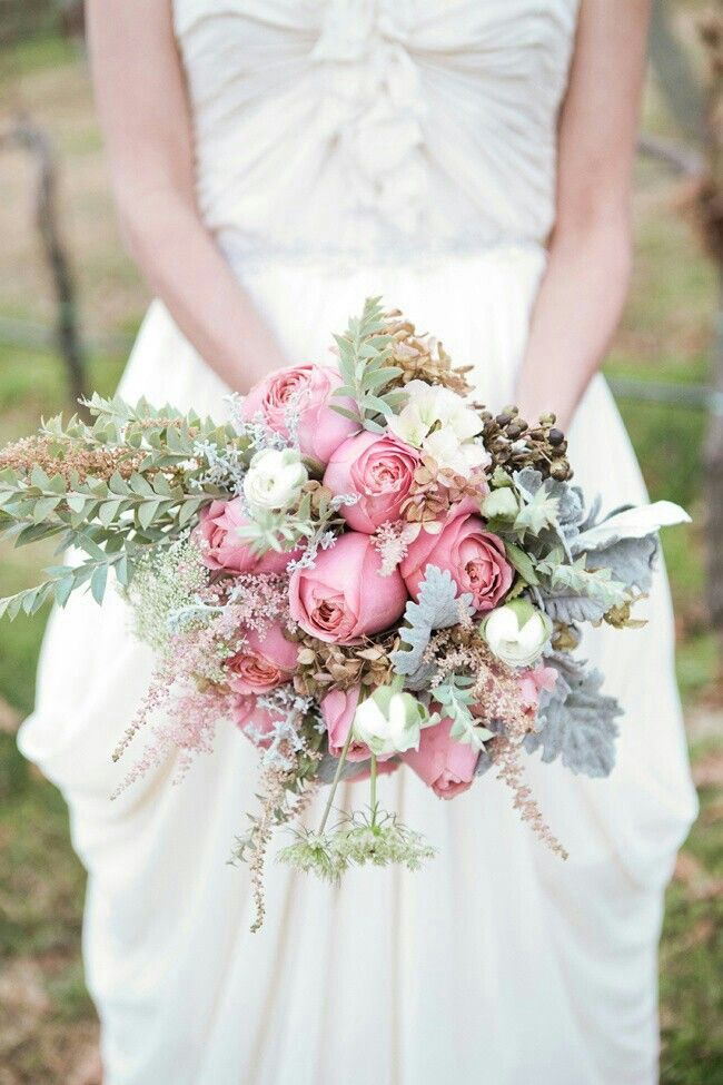 Romantic Wedding Bouquet Quot Vintage Quot Pink Garden Roses