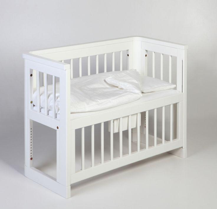 Köp Troll Spjälsäng Sun Bedside Crib Vit | Barnrummet Barnsängar | Jollyroom