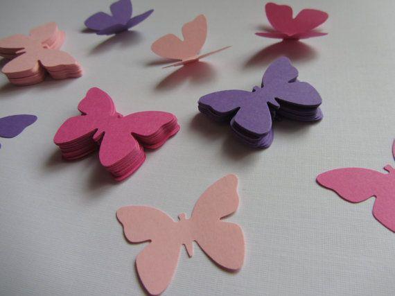 Farfalle di carta 100 morire tagliati farfalle, fustellati, decorazioni di…