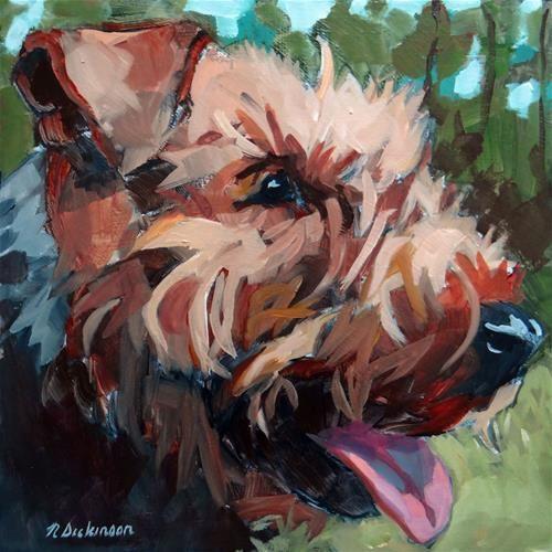 "Daily Paintworks - ""Kipper"" - Original Fine Art for Sale - © Nat Dickinson"