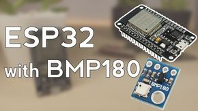 This guide shows you how to use the BMP180 barometric sensor with the ESP32 to read pressure and temperature. We'll show you how to wire the sensor to the ESP32, install the needed library, and how to write the sketch in the Arduino IDE.