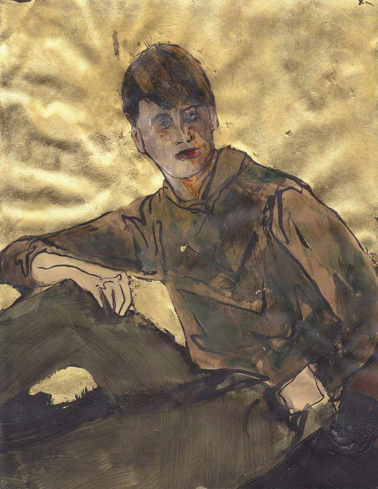 """hernan bas art   Hernan Bas """"Unknown poet #3 (His life was a privileged loss)"""" 2012 ..."""